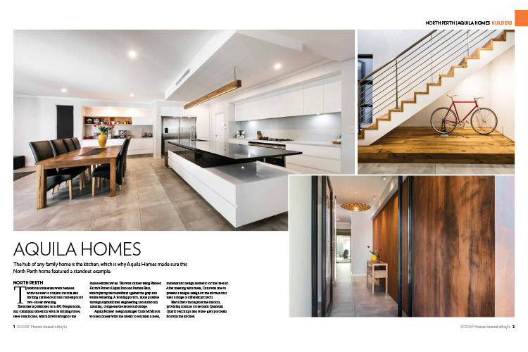 The hub of any family home is the kitchen, which is why Aquila Homes made sure this North Perth home featured a standout example